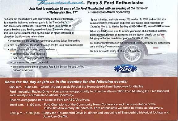 2004 Ford Thunderbird Fab 1 Concept. 2004, oversize postcard