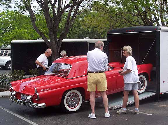 The classic 1955 ford thunderbird same color as the 2002 2005 torch red thunderbird sciox Image collections